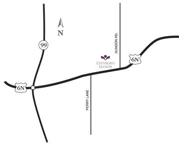 Edinboro Manor map, maps & directions, HCF Inc